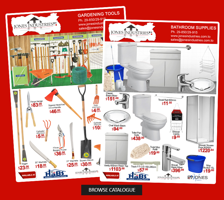 Jones Industries Ltd. | Tonga's Number One Hardware Store